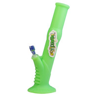 Twisted Labs Green Glow In The Dark Silicone Water Pipe