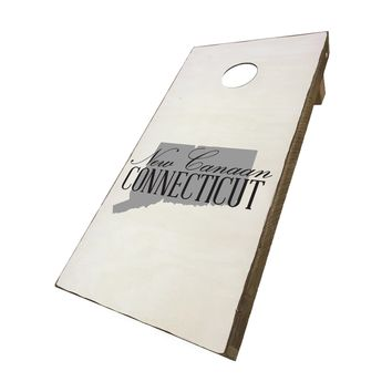 New Canaan Connecticut with State Symbol | Corn Hole Game Set