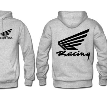 honda racing hoodie honda sweatshirt hoodie print on sleeve back and front
