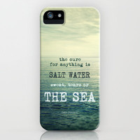 The cure for anything is salt water, sweat, tears, or the sea.    Dinesen iPhone & iPod Case by Guido Montañés
