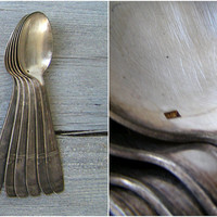 Silver Plated Heavy Soup Serving Spoons Vintage Victorian Mid Century Soviet Cutlery Flatware, Newlywed Chef Gift Retro Restaurant Tableware