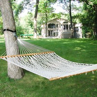 Double size 13' Cotton Rope Hammock by Algoma
