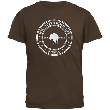 Grand Teton National Park Brown Youth T-Shirt