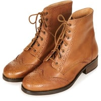 AMALIA Lace Up Brogue - Boots - Shoes - Topshop