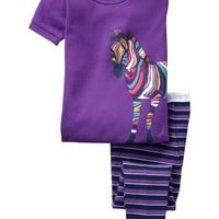 Zebra-Graphic PJ Sets for Baby