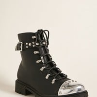 Shoe Republic Satin Combat Boots