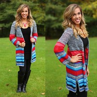 Band of Burgundy Cardigan
