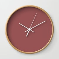 Marsala Wall Clock by spaceandlines