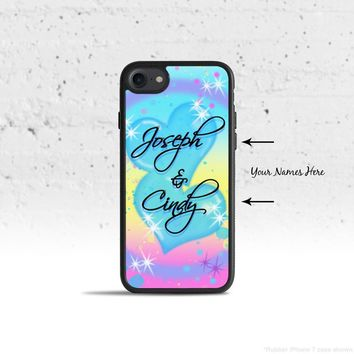 Personalized Airbrush Style Phone Case Cover for Apple iPhone iPod Samsung Galaxy S & Note