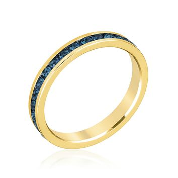 Gail Sapphire Blue Eternity Stackable Ring | 1ct | 18k Gold