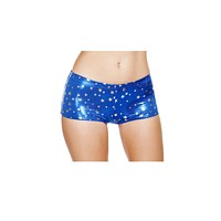 Sexy Shiny Stars Boy Shorts Halloween Accessory