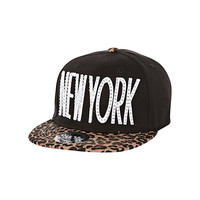 River Island Girls black rhinestone New York trucker hat