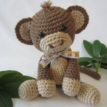 Crochet Monkey, Stuffed Monkey, Toy Monkey, Amigurumi Monkey, Monkey Plush by CROriginals