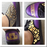 Justin Bieber Shoes Custom by OnTheOtherFoot on Etsy