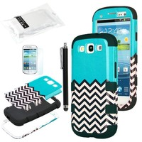 ULAK 3in1 Hybrid Shockproof Rugged Rubber 3 Layer Hard Case for Samsung Galaxy S3 / S III i9300 (Follow the Sky)