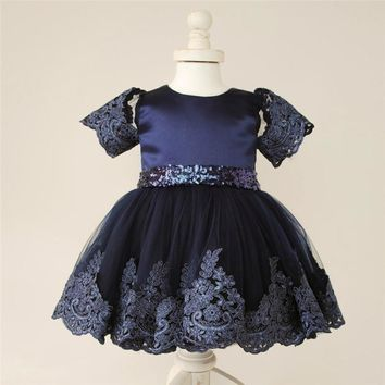 Flower Girls Princess Bow Toddler Baby Wedding Party Pageant Tutu Formal Dresses