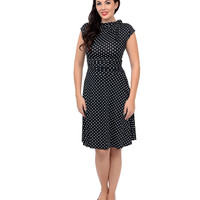 Black & White Polka Dot Bridget Bombshell Dress