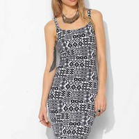 Staring At Stars Allover Print Bodycon Mini- Black & White M