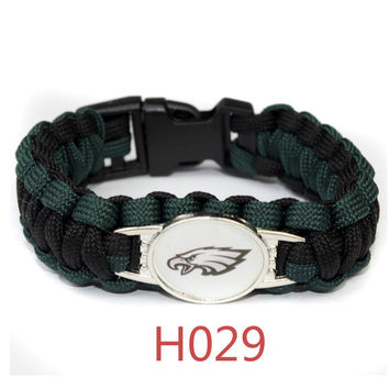 Paracord Bracelet Philadelphia Eagles sport fan Football Bracelets