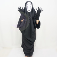 Halloween Costume Sen and Chihiro's Spiriting Away NO FACE Cosplay Costume With Random Face Mask Free Ship SP141257 from SpreePicky