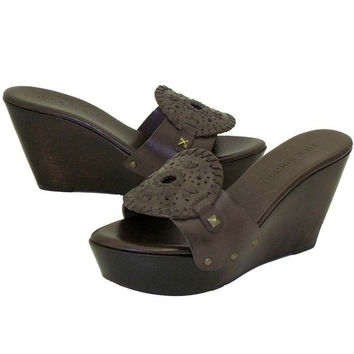 Jack Rogers Georgica Wedge - Dark Brown Wedge Sandal