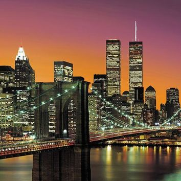 Brewster Wallpaper DM139 New York City Wall Mural