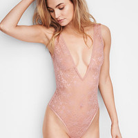 Floral Lace Plunge Teddy - Very Sexy - Victoria's Secret