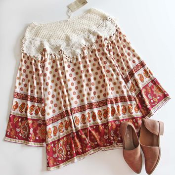 Medallion & Lace Dress