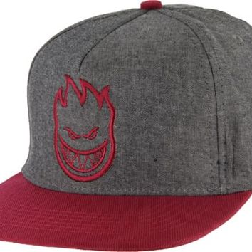 Spitfire Bighead Snap Back Hat - black chambray - Free Shipping
