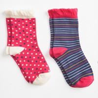 Organic Socks - 2pk - Calico/Stripe