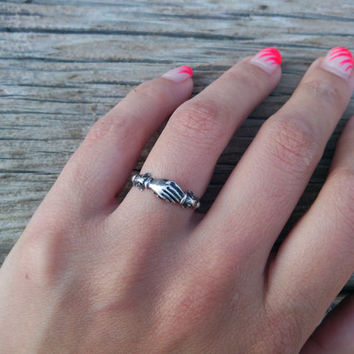 Never Apart - Fede Ring Vintage Sterling Silver