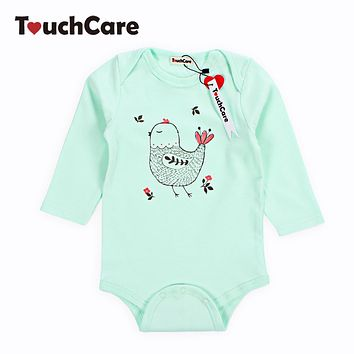 Infant Cute Cartoon Animal Chick Printed Baby Boys Girls Rompers Newborn Soft Cotton Kids Jumpsuit Long Sleeve Toddler Clothes