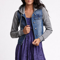 Lue Fleece And Denim Jacket at PacSun.com