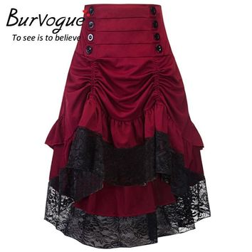 SKIRT Women's High Low Vintage Punk Victorian Renaissance long skirt