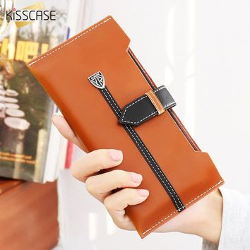 KISSCASE Men Women Handbag Phone Cases For iPhone 6 7 6S Plus Case 5 5S SE Leather Purse For Samsung Galaxy S6 S7 Edge J5 J7 A7