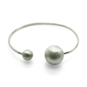 Moon and Star Bracelet in Silver