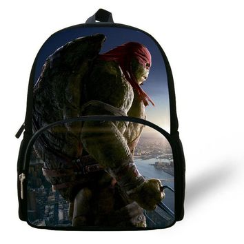 12-inch Mochila Teenage Mutant Ninja Turtles Backpack Chid Cartoon Kids School Bags For Boys Age 1-6 Ninja Turtles Bag School