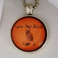Camp Half-Blood Necklace. Athena Cabin, Percy Jackson Inspired. 18 Inch Ball Chain.