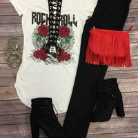 Rock n Roll Tie Top