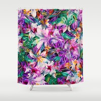 Seamless Floral And Paisley Pattern Shower Curtain by Eduardo Doreni