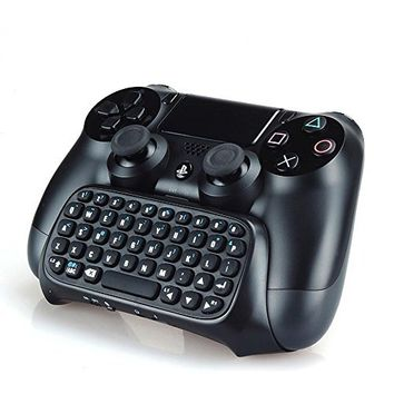 Ortz® PS4 Wireless Mini Bluetooth Keyboard - Best KeyPad Adapter for DualShock Controller for PlayStation 4 [Black]