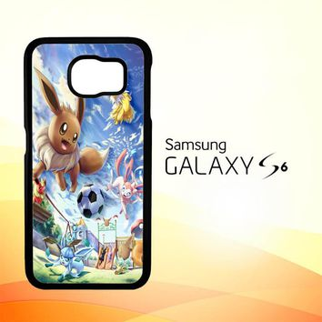 Eevee and Umbreon and Espeon X0915 Samsung Galaxy S6 Case