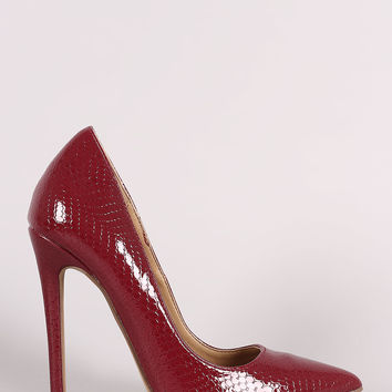 Snake Pointy Toe Pump| UrbanOG