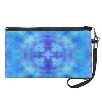 Blue Wings Wristlet