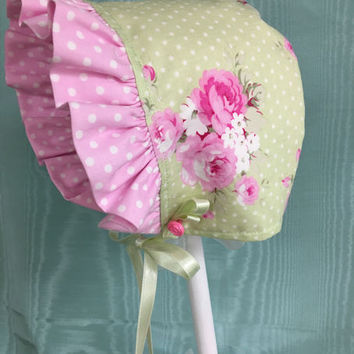Sweet Rose Baby Bonnet