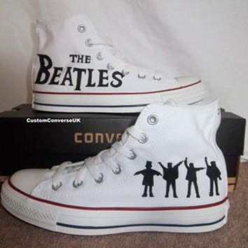 DCCK1IN the beatles converse all stars by customconverseuk on etsy