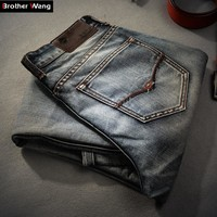 Men Fashionable Jeans / Slim Straight Jeans For Men