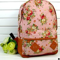 Fashion Vintage Cute Flower Schoolb.. on Luulla