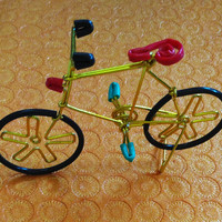 HANDMADE / KIDS TOYS/little bicycle/ home decor /showpiece/cute/abcd/beautiful designed./art / craft.made for order.
