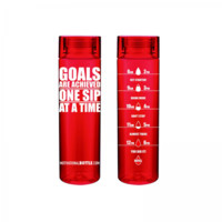 Red Goals Motivational Bottle® - Motivational Bottle